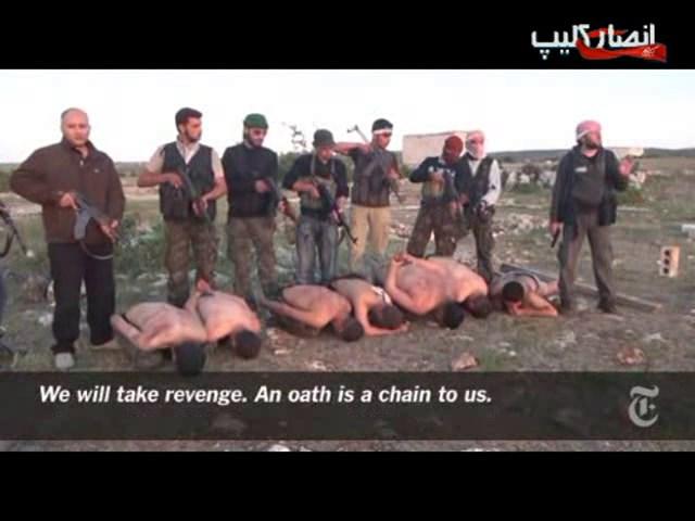قتل سربازان سوري توسط  وهابيون تروريست